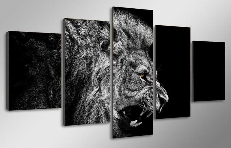 Black and White Lion Cuadros - It Make Your Day