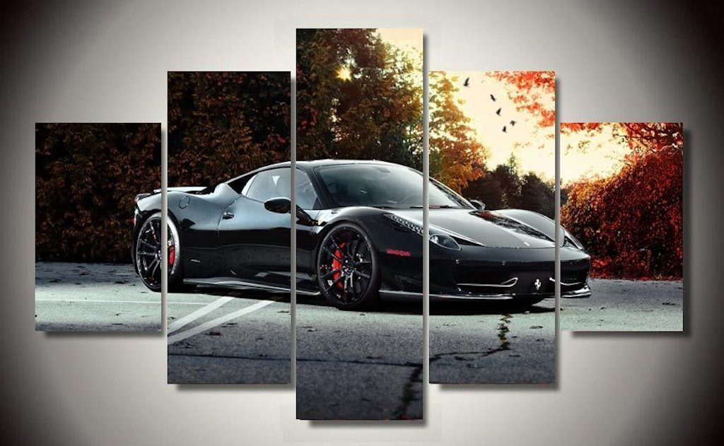 Black Ferrari 458 Italia Exotic Sports Car - It Make Your Day