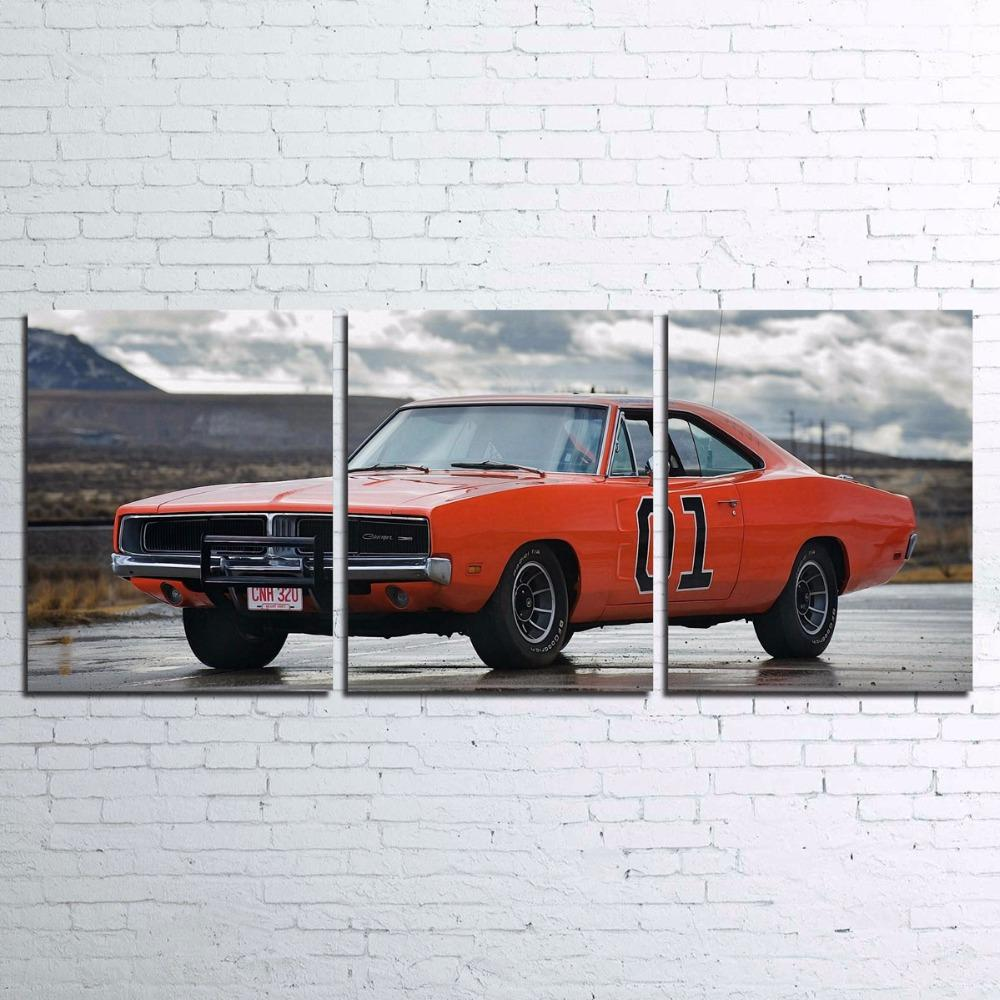 3 Piece Flashy Sports Car Canvas Wall Art Sets - It Make Your Day