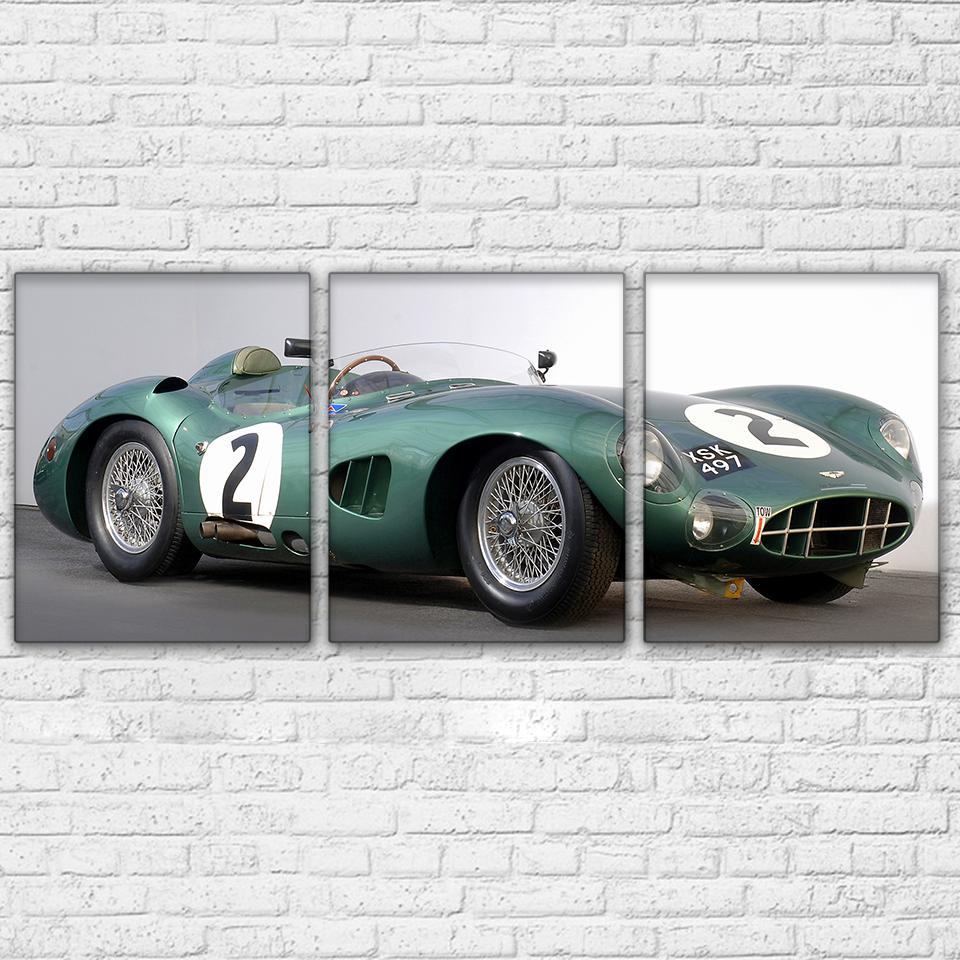 3 Piece Green Super Luxury Sports Car Canvas - It Make Your Day