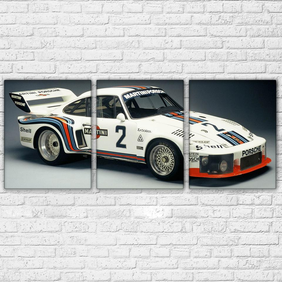 3 Piece White Super Racing Sport Car Canvas Wall Art Sets   It Make Your Day