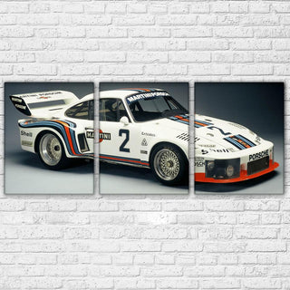 3 Piece White Super Racing Sport Car Canvas Wall Art Sets - It Make Your Day