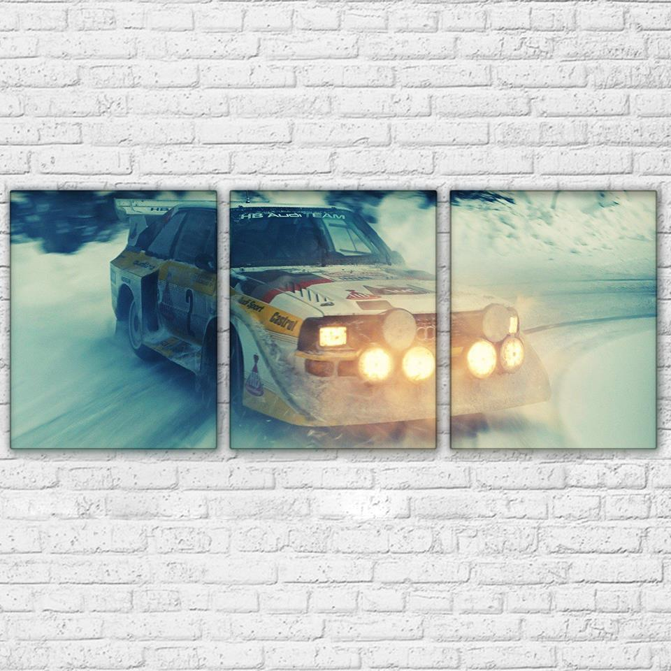 3 Piece Snowfield Off-Road Racing Car Canvas Wall Art Sets - It Make Your Day