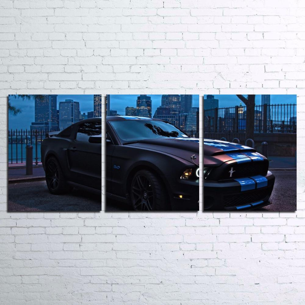 3 Piece Ford Mustang Canvas Wall Art Sets - It Make Your Day