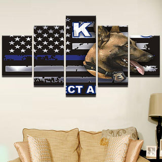 5 Pieces Sports Flag and Dog Canvas - It Make Your Day