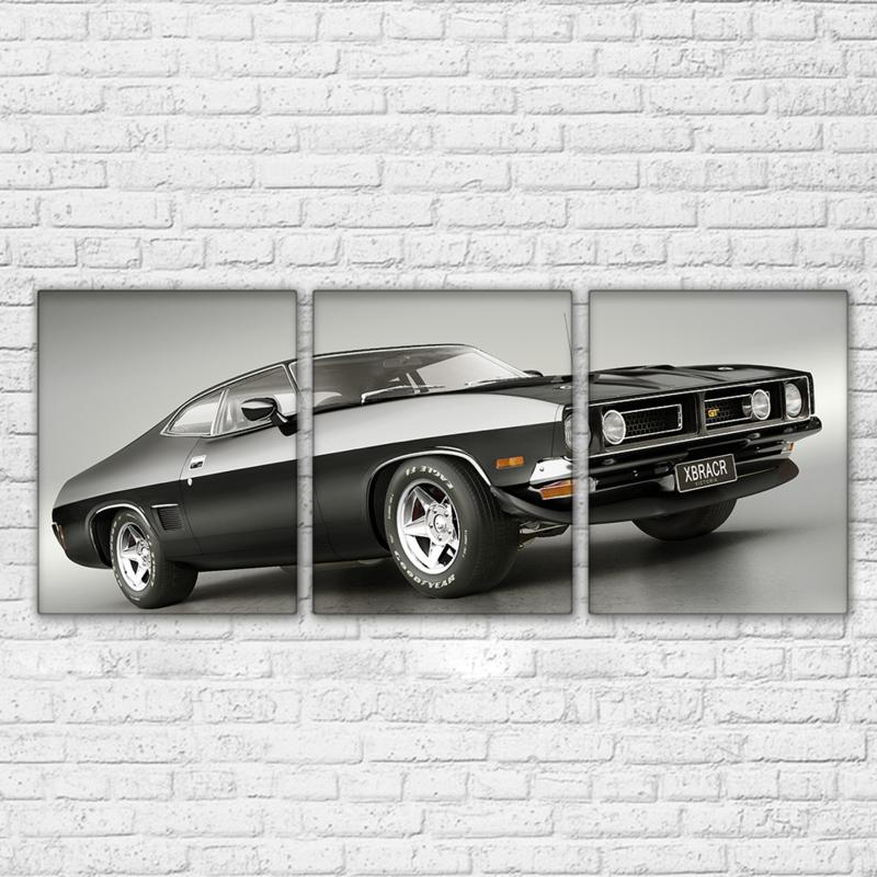 3 Piece Ford Black Sports Car Canvas Wall Art Sets - It Make Your Day