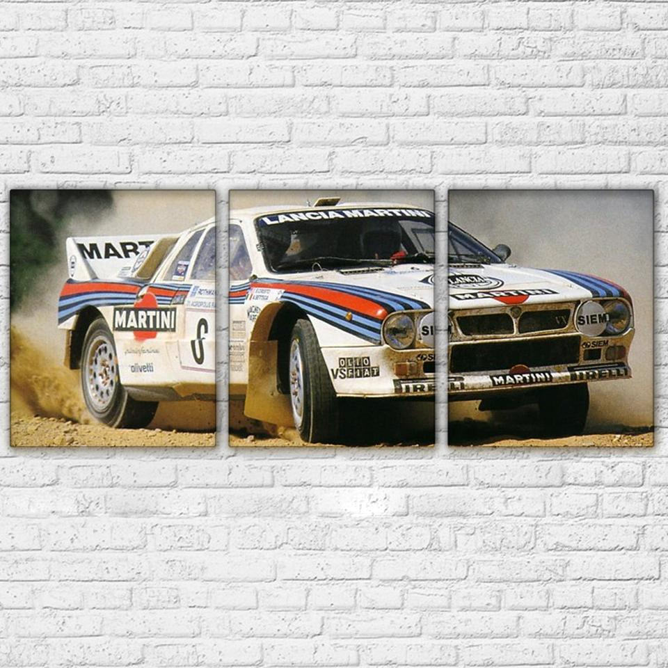 3 Panel Super Racing Car Canvas Wall Art Sets - It Make Your Day : race car wall art - www.pureclipart.com