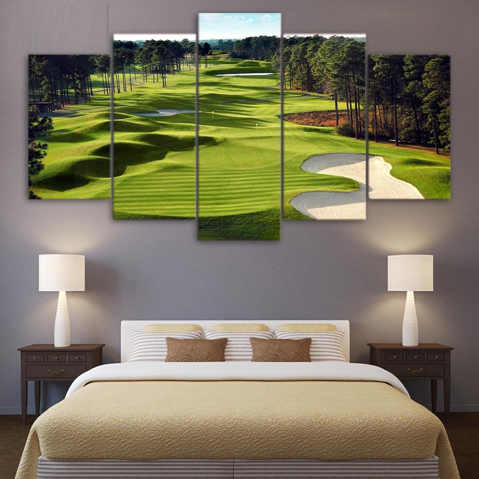 5 Pieces Golf Course Wall Art Canvas - It Make Your Day