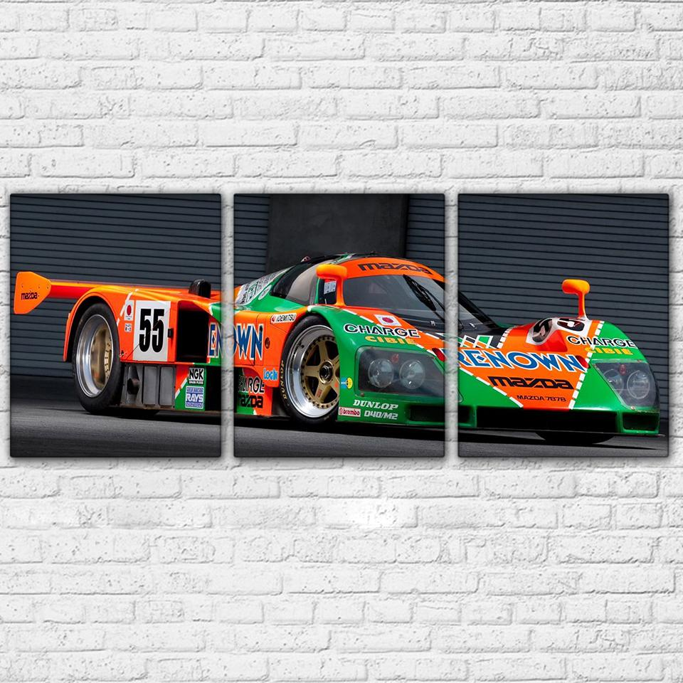 3 Piece Super Cool Racing Car Canvas Wall Art Sets - It Make Your Day