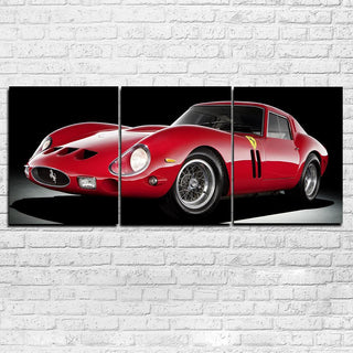 3 Piece Red Super Sports Car Canvas Wall Art Sets - It Make Your Day