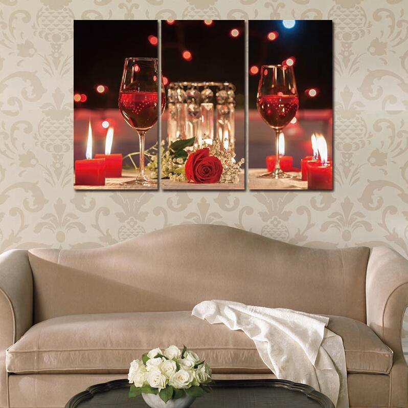 3 Piece Red Wine Cup Canvas Wall Art Paintings - It Make Your Day & 3 Piece Red Wine Cup Canvas Wall Art Paintings For Sale u2013 It Make ...