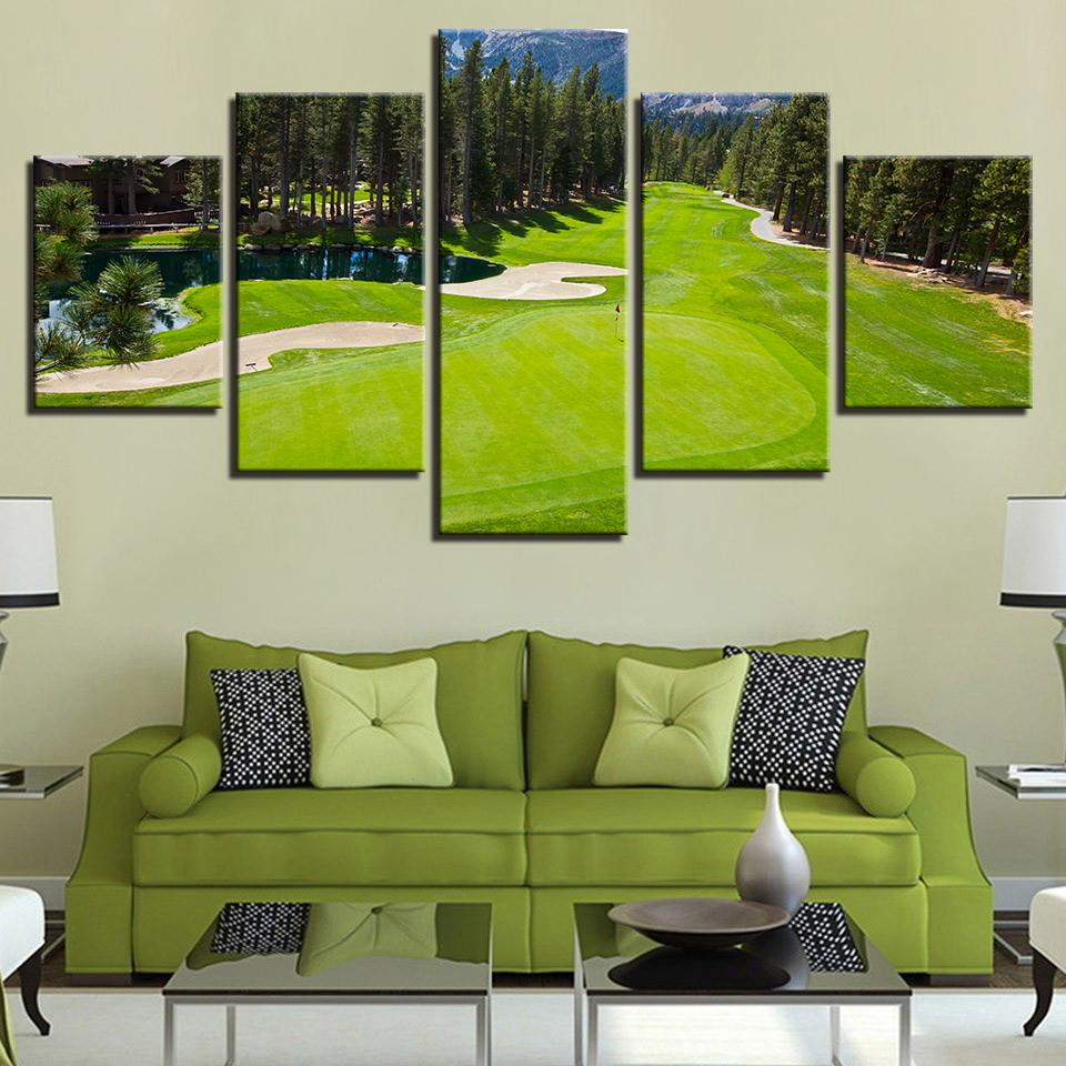 5 Pieces Golf Course Pictures Canvas   It Make Your Day