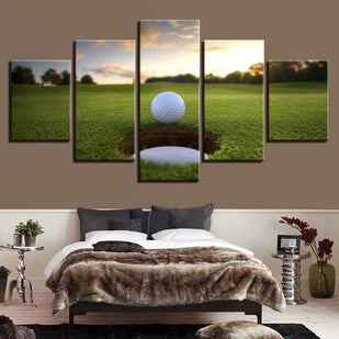 5 Pieces Golf Ball Course Canvas Wall Art Paintings