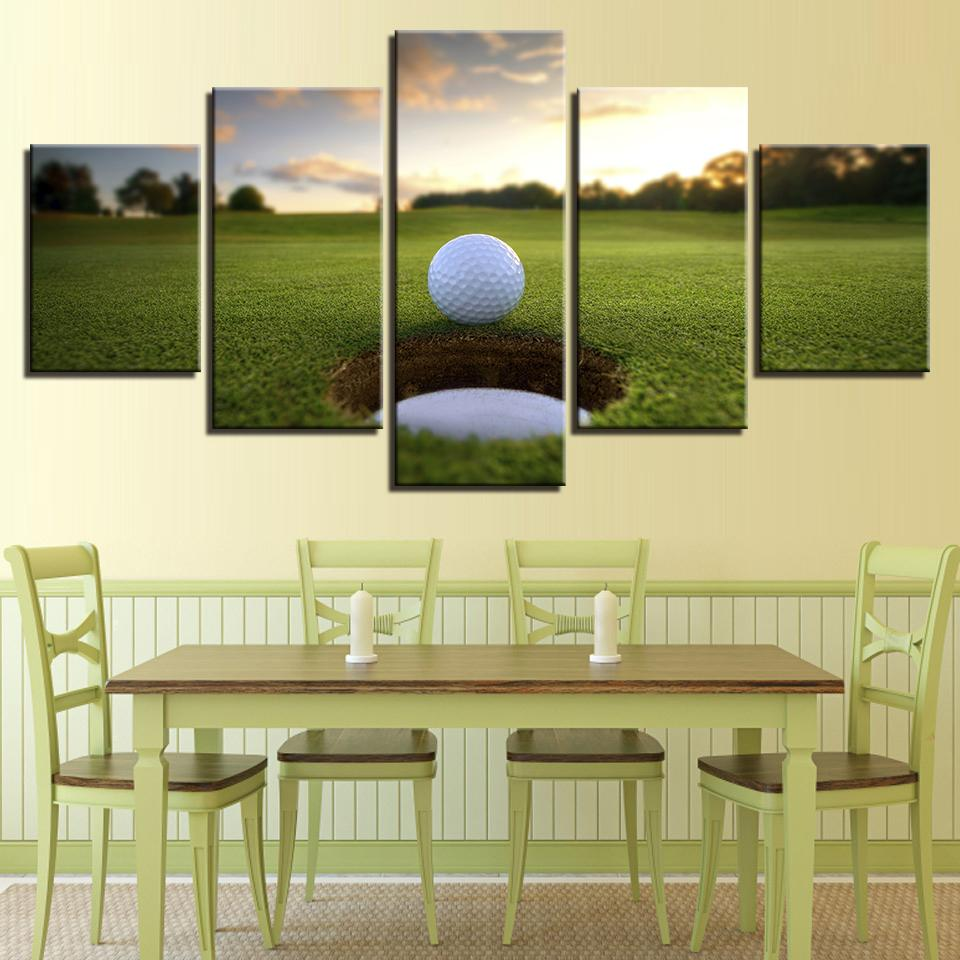 5 Pieces Golf Ball Course Canvas Wall Art Paintings For Sale – It ...