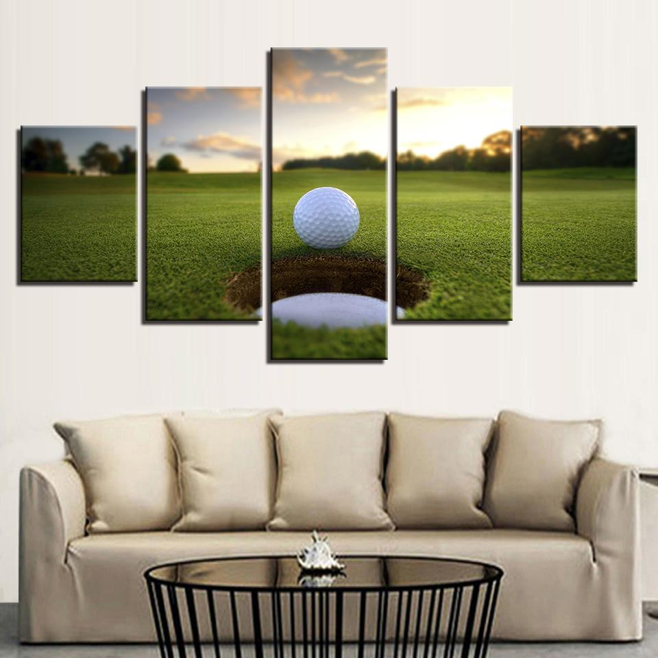 5 Pieces Golf Ball Course Canvas Arts - It Make Your Day