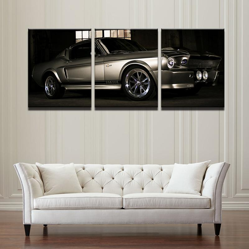 3 Piece Cool Car Landscape Canvas Wall Art Sets - It Make Your Day