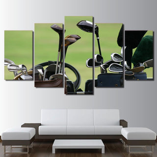 5 Pieces Golf Clubs Canvas Painting   It Make Your Day