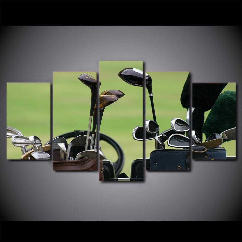 5 Pieces Golf Clubs Canvas Painting - It Make Your Day