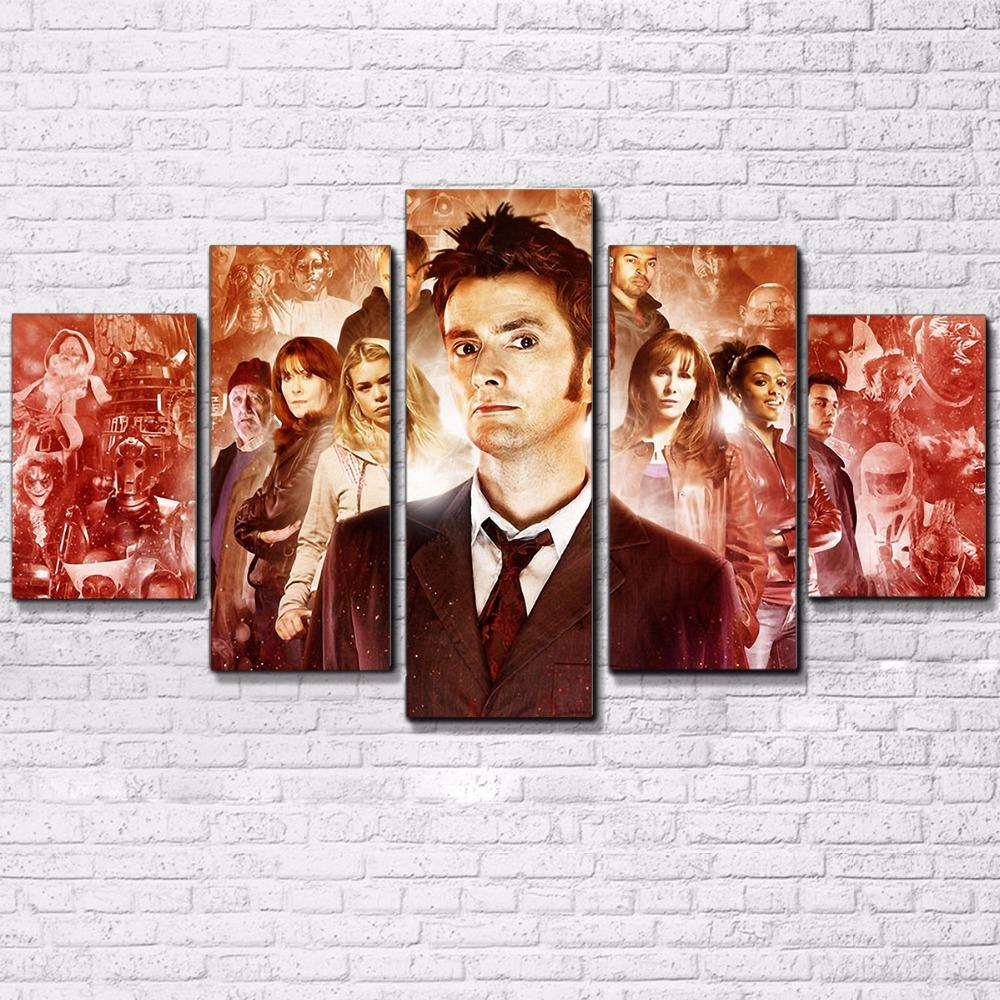 5 Piece Doctor Who Movie Canvas Wall Art Paintings - It Make Your Day