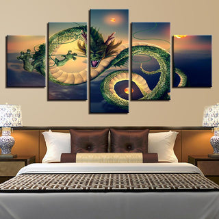 Framed 5 Piece Cartoon Anime Dragon Ball 21 Canvas Wall Art Paintings - It Make Your Day