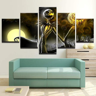 5 Pieces Jack Skellington Canvas Wall Art Paintings Sets - It Make Your Day