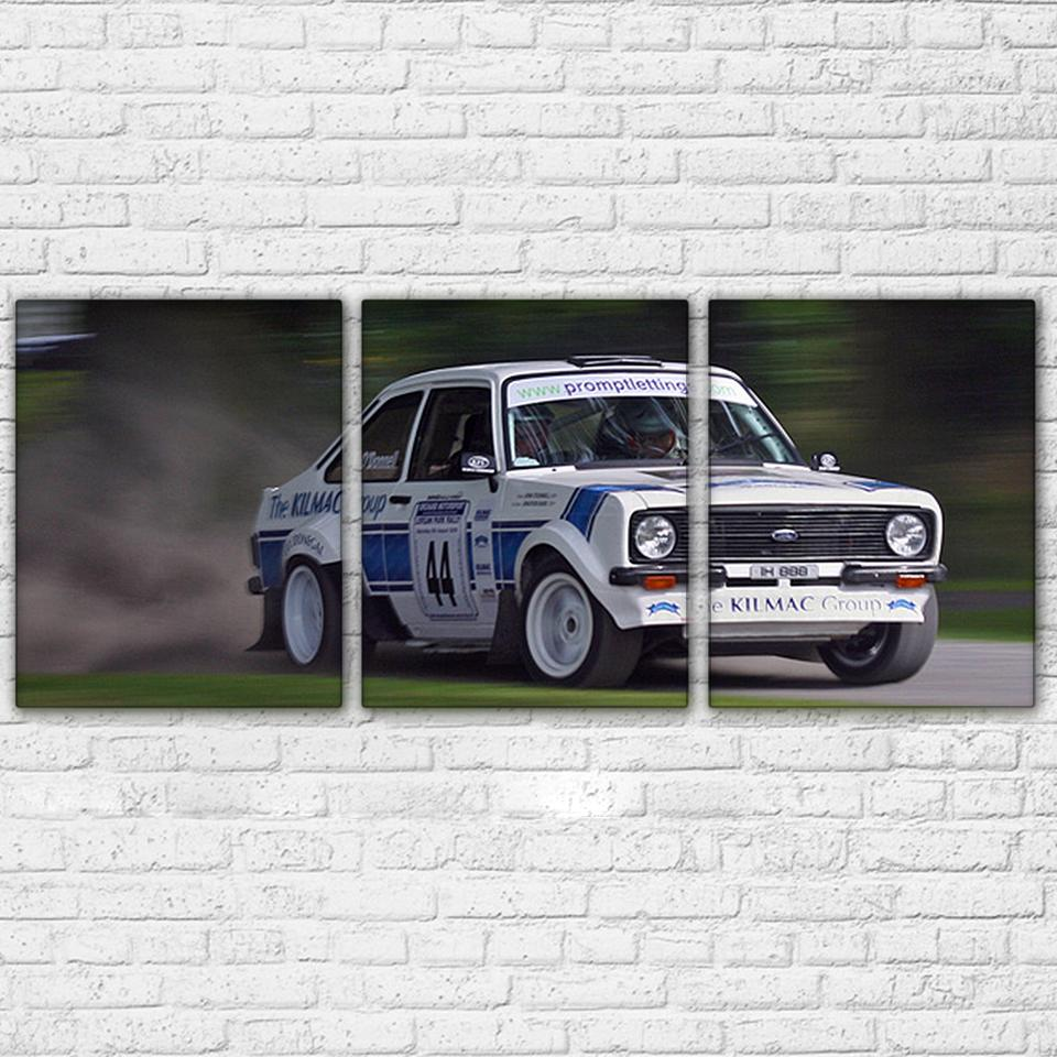3 Piece White Super Racing Cars Canvas Wall Art Sets - It Make Your Day