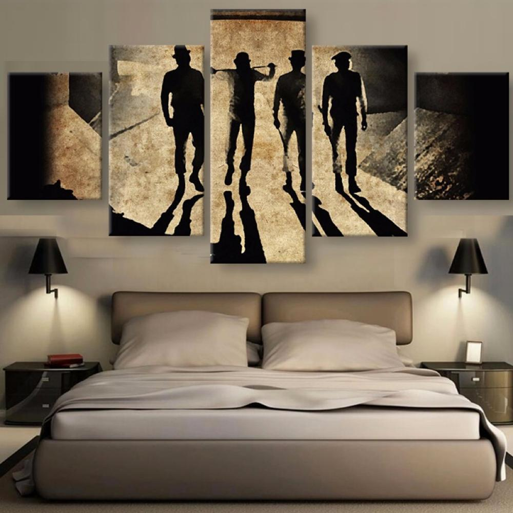 5 Piece Clockwork Orange Canvas Wall Art - It Make Your Day