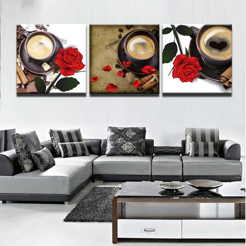 Framed 3 Piece Coffee Collection - Versatile Pack 2 Canvas – It Make ...