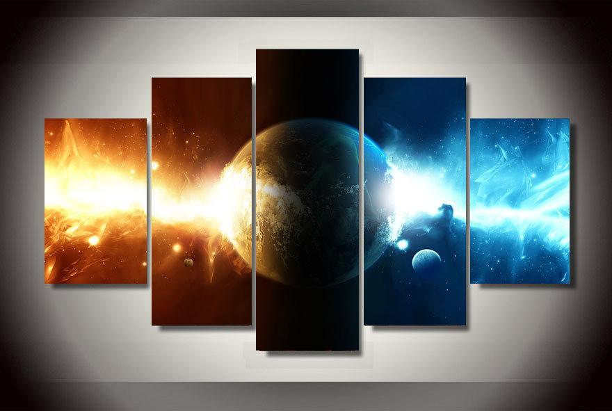 5 Piece Cosmos Galaxy Space Canvas Painting Wall Art - It Make Your Day