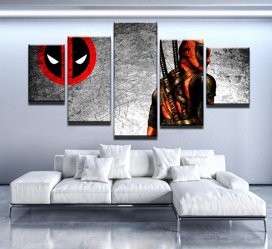 5 Piece Deadpool Print Canvas Wall Art Paintings - It Make Your Day