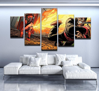 5 Piece Deadpool Comedy Canvas Wall Art Paintings - It Make Your Day