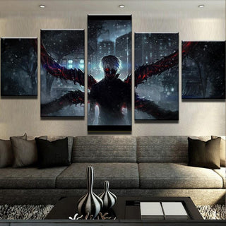 5 Piece Demon Wings Tokyo Ghoul Canvas Wall Art Paintings - It Make Your Day