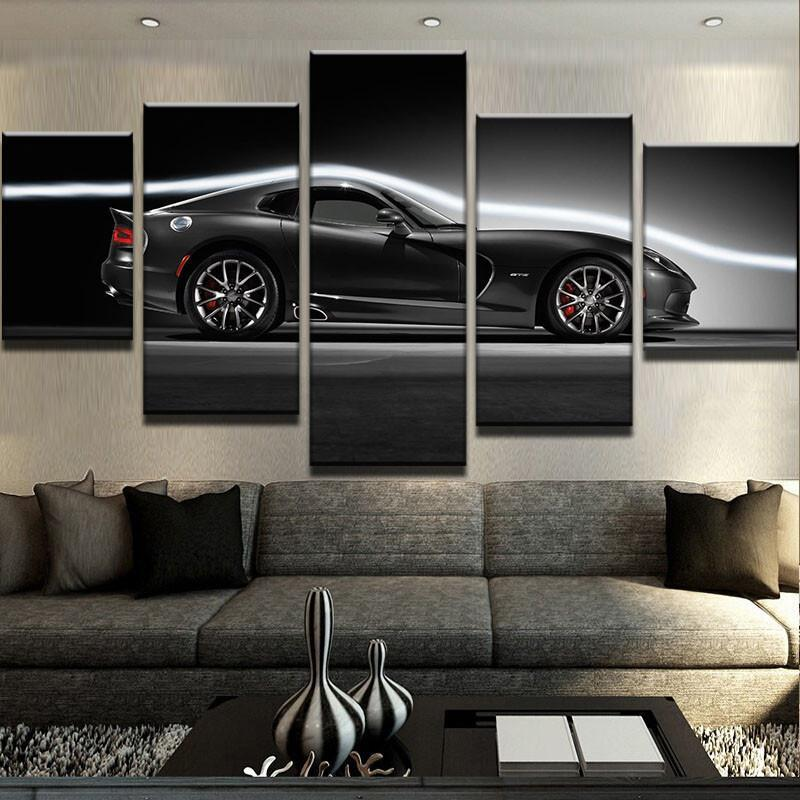 5 Piece Dodge Viper GTS Car Canvas Wall Art Paintings - It Make Your Day