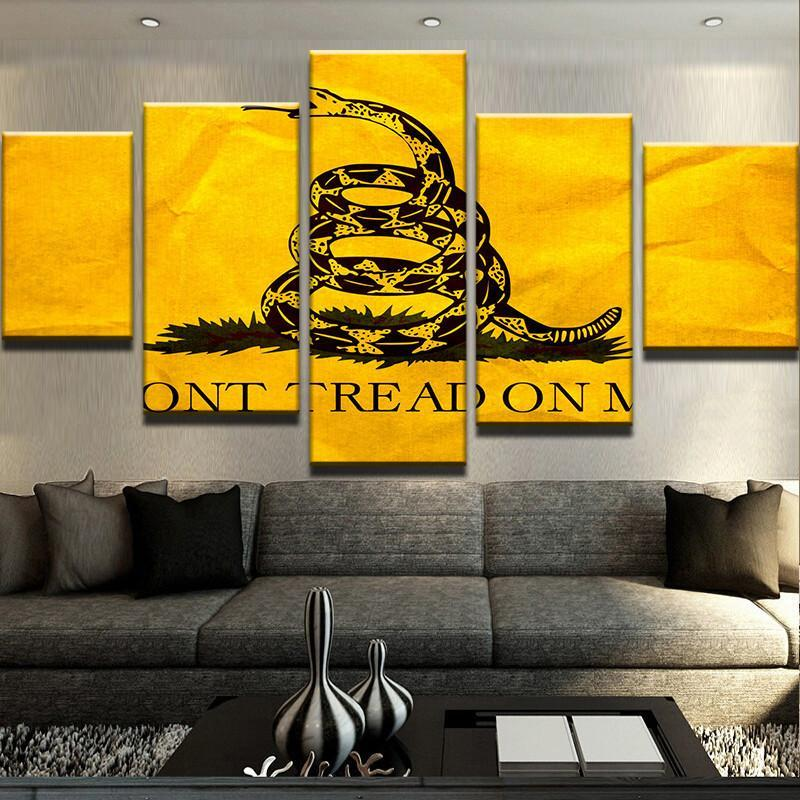5 Piece Don't Tread On Me Canvas Wall Art Paintings - It Make Your Day