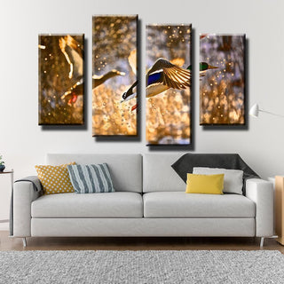 5 Panels Ducks Flying Canvas Wall Art Paintings - It Make Your Day