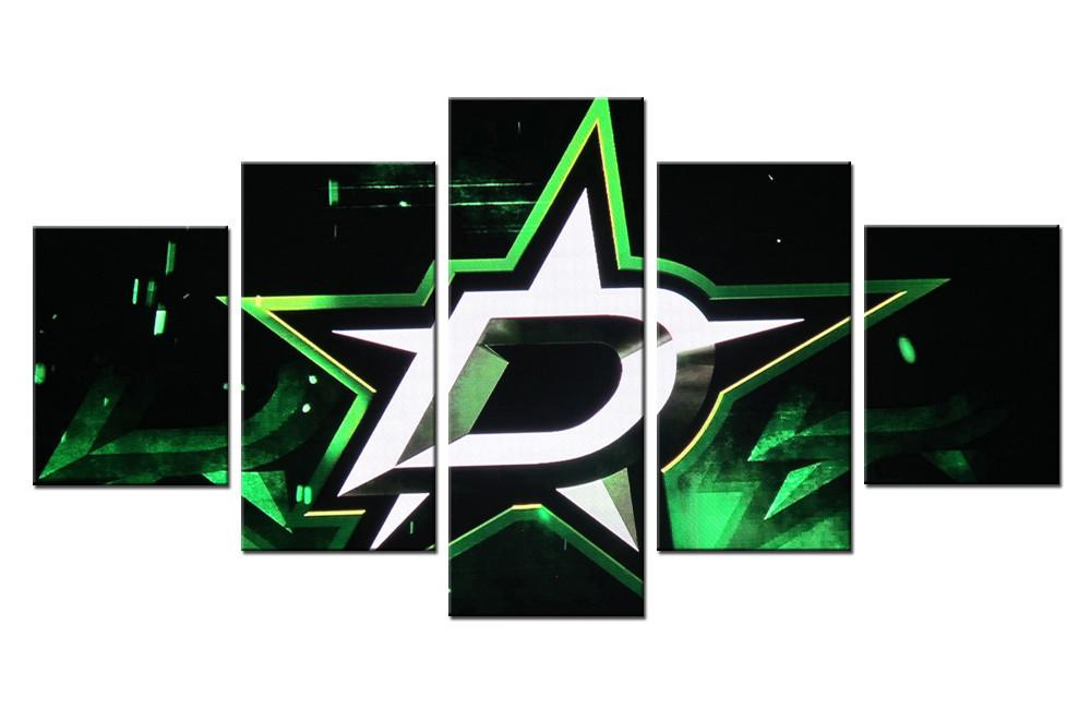 5 Piece Dallas Stars 1 Ice Hockey Canvas - It Make Your Day