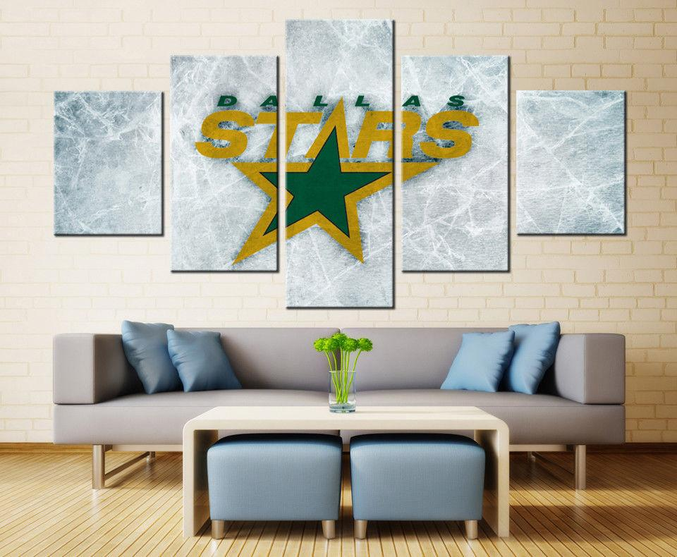 5 Piece Dallas Stars 4 Ice Hockey Canvas - It Make Your Day