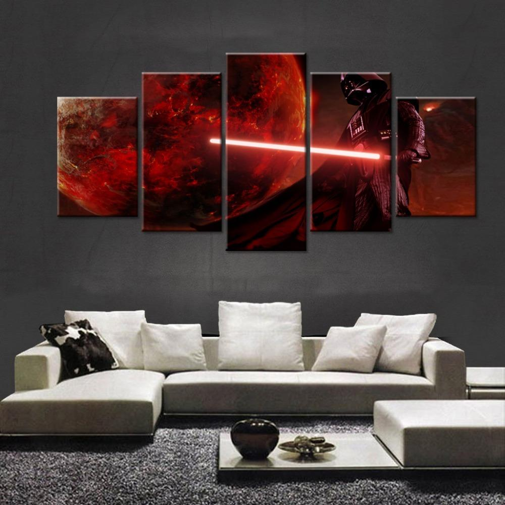 5 Piece Darth Vader Anakin Skywalker Movie Canvas Painting Wall Art - It Make Your Day