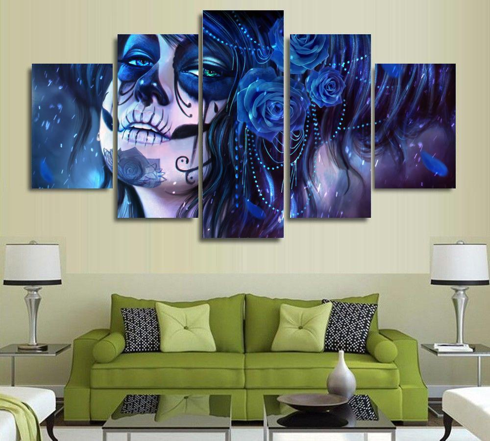 5 Piece Day of the Dead Movie Canvas Painting Wall Art - It Make Your Day