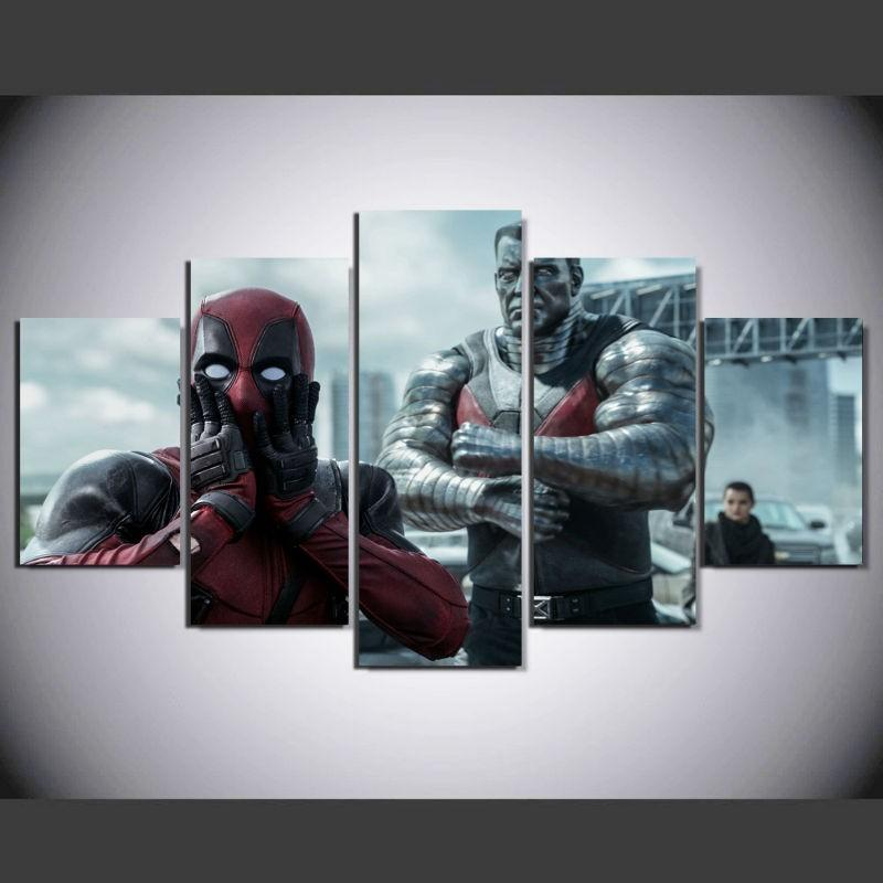 5 Piece Deadpool Fun Movie Canvas Painting Wall Art - It Make Your Day & 5 Piece Deadpool Fun Movie Canvas Wall Art Paintings For Sale u2013 It ...