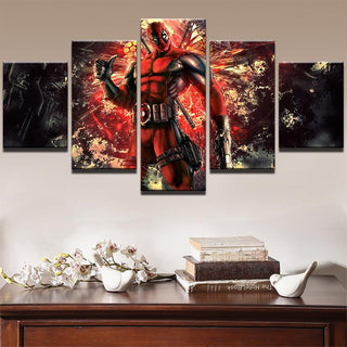 5 Piece Deadpool Poster Movie Canvas Painting Wall Art - It Make Your Day