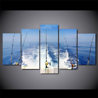 5 Pieces Deep Sea Fishing Canvas - It Make Your Day