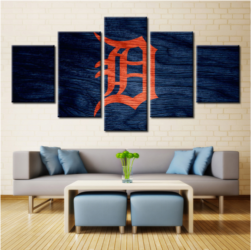 5 Piece Detroit Tigers Wall Art Canvas Paintings - It Make Your Day