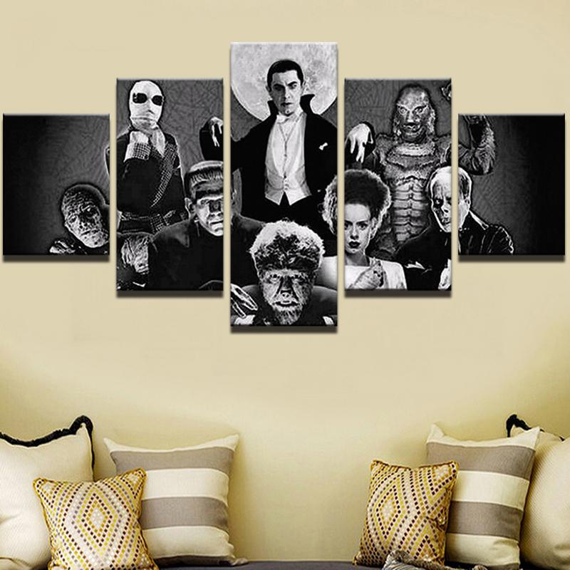 5 Piece Dracula Complete Collection Movie Canvas Painting Wall Art - It Make Your Day