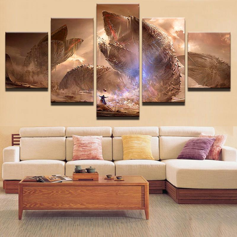 5 Piece Dune Novel Monster Movie Canvas Painting Wall Art - It Make Your Day