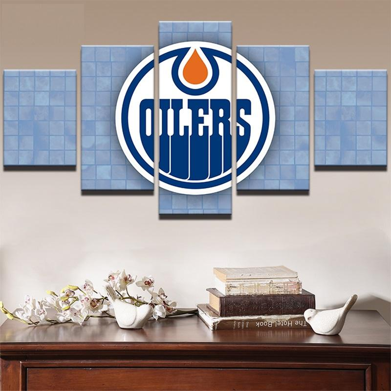 5 Piece Edmonton Oilers 2 Hockey Canvas - It Make Your Day