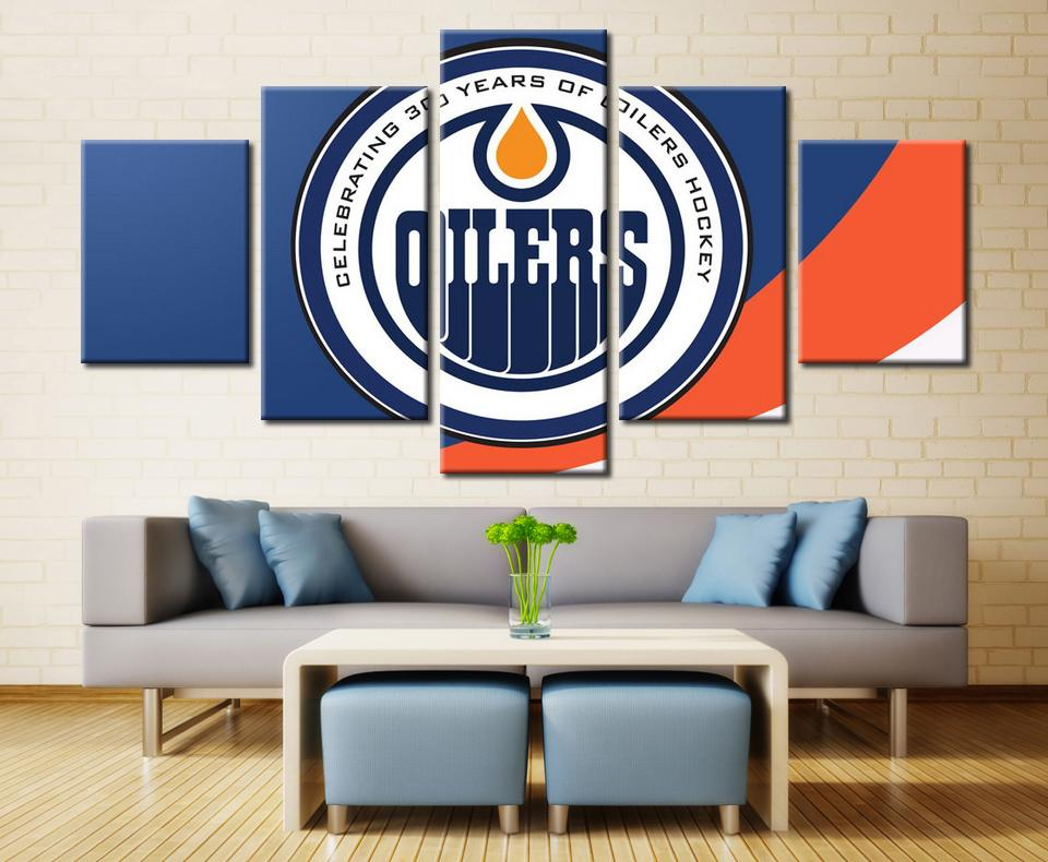 5 Piece Edmonton Oilers 3 Hockey Canvas - It Make Your Day
