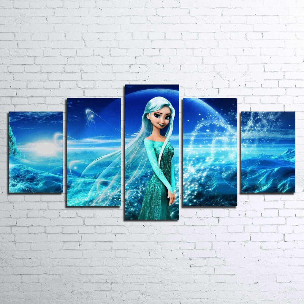 5 Piece Elsa Frozen Movie Canvas Painting Wall Art - It Make Your Day