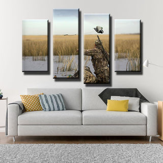 5 Peace Fowl Hunter Canvas Prints Wall Art Paintings - It Make Your Day
