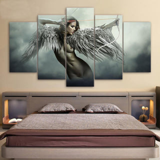 5 Piece Fantasy Warrior Angel Movie Canvas Painting Wall Art - It Make Your Day